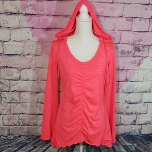 CK PERFOMANCE QUICK DRY PINK RUFFLE PULLOVER